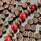 Бусины металлические литые биконической формы Юла в тибетском стиле с покрытием античная медь для сборки украшений комплектами по 10 бусин