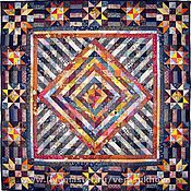 Для дома и интерьера handmade. Livemaster - original item Blanket bedspread patchwork Christmas night. Handmade.