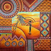 """Аксессуары ручной работы. Ярмарка Мастеров - ручная работа Платок-батик """"Жаркая Африка"""". Handmade."""