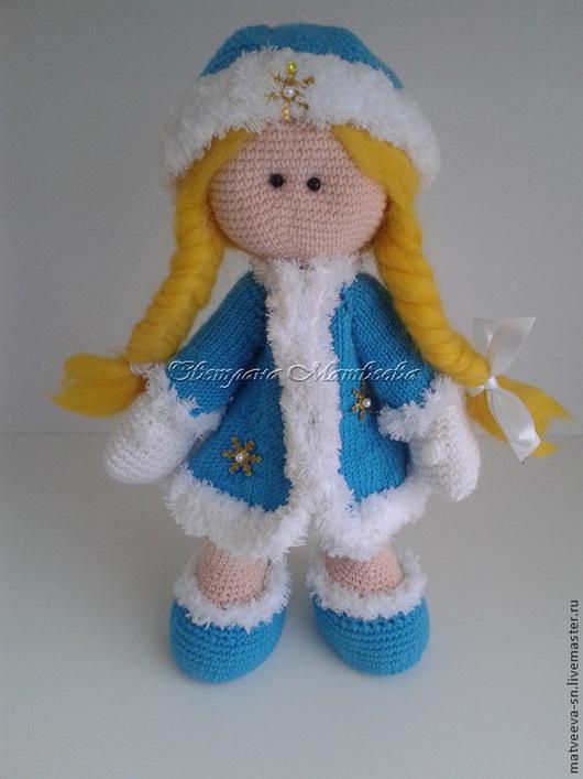Человечки ручной работы. Ярмарка Мастеров - ручная работа. Купить Кукла Снегурочка. Handmade. Голубой, кукла, вязаная кукла