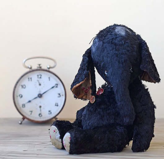 Слоник Момо, 25 см, вискоза, опилки, гранулят. Автор Гузель Костына