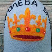 """Для дома и интерьера ручной работы. Ярмарка Мастеров - ручная работа Банная шапка """"Королева бани"""". Handmade."""