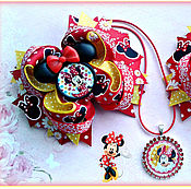 Работы для детей, handmade. Livemaster - original item A set of children`s jewelry Minnie. Handmade.