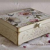 Для дома и интерьера ручной работы. Ярмарка Мастеров - ручная работа Шкатулка JARDINE. Handmade.
