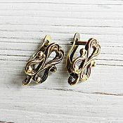 Материалы для творчества handmade. Livemaster - original item Earrings with locking bronze brass (art. 2633). Handmade.