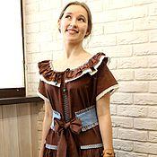 Одежда handmade. Livemaster - original item Dress summer cotton Girl. Handmade.
