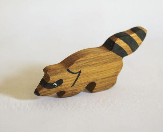 Игрушки животные, ручной работы. Ярмарка Мастеров - ручная работа. Купить Енот, деревянная развивающая игрушка. Handmade. Деревянная игрушка