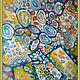 Символизм ручной работы. Ярмарка Мастеров - ручная работа. Купить Летняя Фантазия. Handmade. Желтый, картина маслом, цветы, авангард