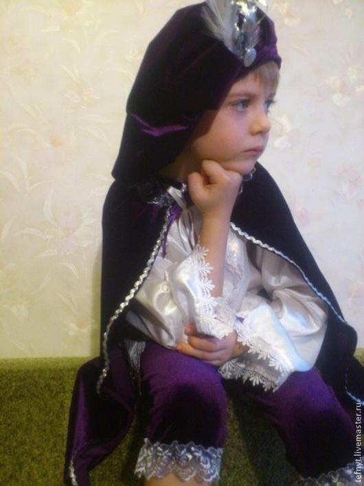 Детские карнавальные костюмы ручной работы. Ярмарка Мастеров - ручная работа. Купить Благородный паж. Handmade. Тёмно-фиолетовый, бархат