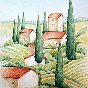"""Картины ручной работы. Ярмарка Мастеров - ручная работа Рисунок """"Италия"""" акварель. Handmade."""