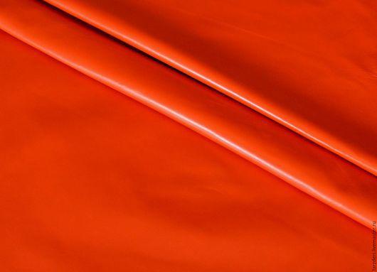 Шитье ручной работы. Ярмарка Мастеров - ручная работа. Купить Яркая рябина Мягкая тонкая натуральная кожа 0,5 мм. Handmade.