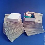 Материалы для творчества ручной работы. Ярмарка Мастеров - ручная работа Коробочка 6х6х3 см ЗАГОТОВКА (50 шт) цвет белый.. Handmade.