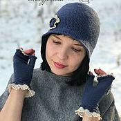 handmade. Livemaster - original item Elegant women`s dark grey Cloche hat for spring. Handmade.