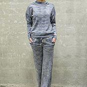 Одежда handmade. Livemaster - original item Knitted suit for women Striptile. Handmade.