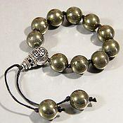 Фен-шуй и эзотерика handmade. Livemaster - original item Rosary earthy Pyrite natural.. Handmade.
