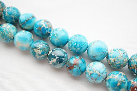 Для украшений ручной работы. Ярмарка Мастеров - ручная работа. Купить Варисцит голубой шар 18мм. Handmade. Бирюзовый