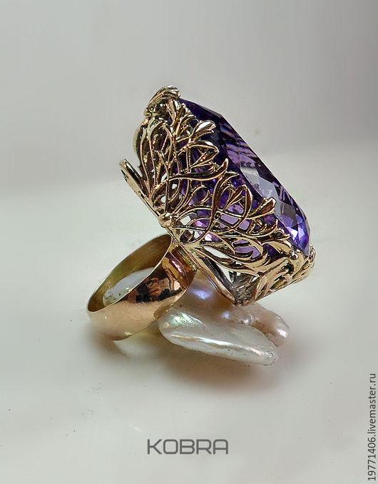 Кольца ручной работы. Ярмарка Мастеров - ручная работа. Купить золотое кольцо     Елена Прекрасная. Handmade. Тёмно-фиолетовый