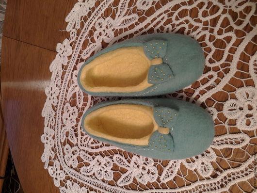 Обувь ручной работы. Ярмарка Мастеров - ручная работа. Купить балетки Нежность. Handmade. Бирюзовый, подарок девушке, троицкая шерсть