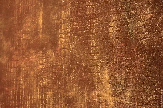 Декор поверхностей ручной работы. Ярмарка Мастеров - ручная работа. Купить Декор стены штукатуркой эффект кожа крокодила для задней стенки шкафа. Handmade.