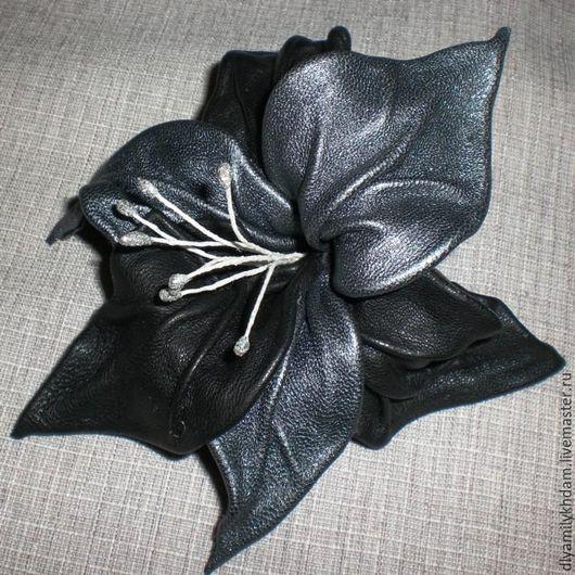 """Броши ручной работы. Ярмарка Мастеров - ручная работа. Купить Брошь """"Орхидея"""". Handmade. Брошь ручной работы, серебристый цвет"""