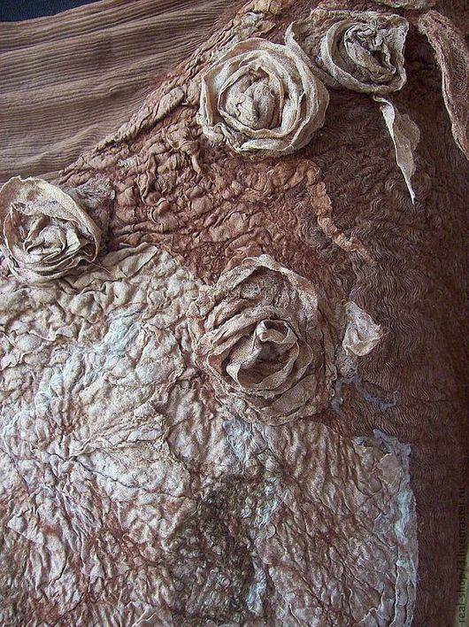 Платья ручной работы. Ярмарка Мастеров - ручная работа. Купить Валяное платье Hot Chocolate. Handmade. Цветочный, Мокрое валяние