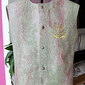 Одежда ручной работы. Ярмарка Мастеров - ручная работа Мужской валяный жилет. Handmade.