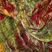 Аксессуары ручной работы. Ярмарка Мастеров - ручная работа Шелковый шарф-батик   Непредсказуемость.. Handmade.