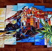 Картины и панно ручной работы. Ярмарка Мастеров - ручная работа модульная картина на заказ Италия. Handmade.