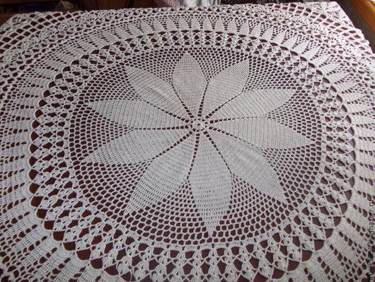 """Текстиль, ковры ручной работы. Ярмарка Мастеров - ручная работа. Купить Скатерть""""Классика""""130см. Handmade. Бежевый, Салфетка вязаная"""