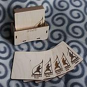 Для дома и интерьера ручной работы. Ярмарка Мастеров - ручная работа Набор костеров в коробочке с лого. Handmade.