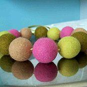 Украшения handmade. Livemaster - original item Felted beads. Handmade.