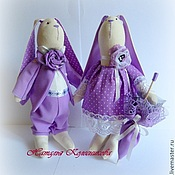 Куклы и игрушки ручной работы. Ярмарка Мастеров - ручная работа Влюбленные зайцы Тильда. Handmade.
