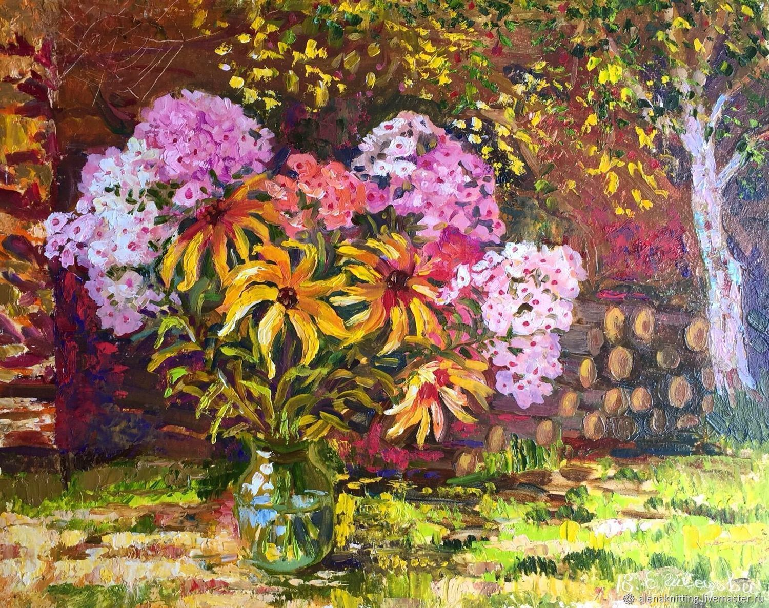 Oil painting 'Summer and bright', Pictures, Moscow,  Фото №1