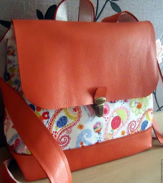 """Женские сумки ручной работы. Ярмарка Мастеров - ручная работа. Купить """"Лета луч """" молодежный рюкзак, подарок девушке, стиль casual. Handmade."""