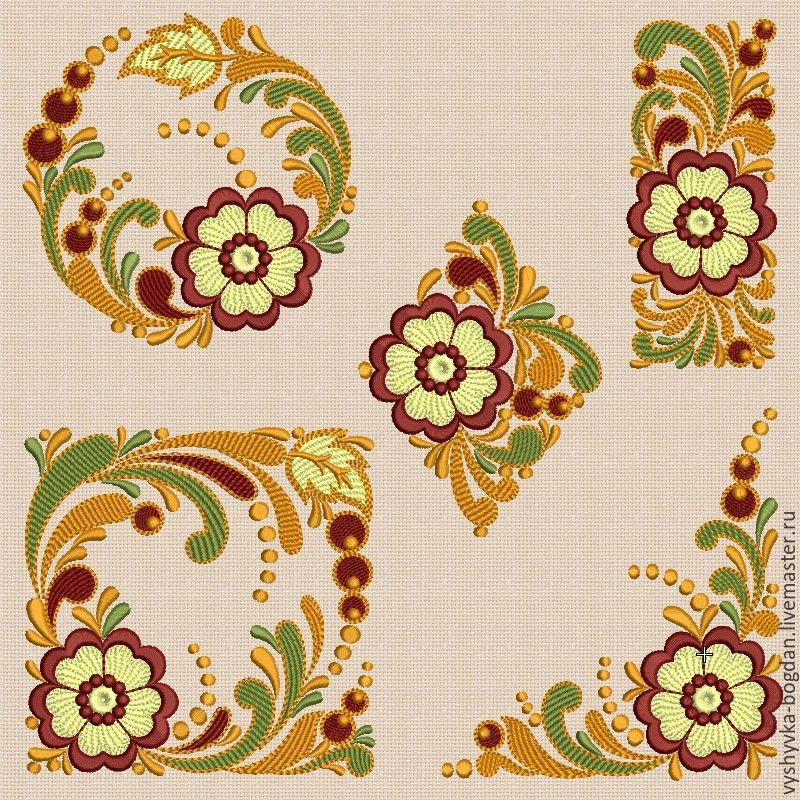 A set of designs for machine embroidery `Slavic motifs_bt143` for embroidery frames 20 x 14 cm. It is embroidered without jumping. Designs passed the test.
