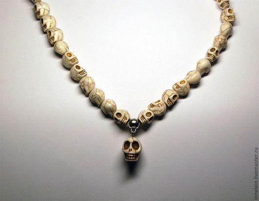 """Колье, бусы ручной работы. Ярмарка Мастеров - ручная работа. Купить Бусы """"Ожерелье из черепов"""". Handmade. Ожерелье, ожерелье из черепов"""