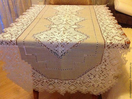 Текстиль, ковры ручной работы. Ярмарка Мастеров - ручная работа. Купить Столешница льняная ручной вышивки. Handmade. Столешница