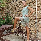 Одежда ручной работы. Ярмарка Мастеров - ручная работа Платье вязаное крючком запах мяты. Handmade.