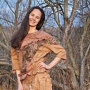 "Одежда ручной работы. Ярмарка Мастеров - ручная работа Валяная блуза ""Любимая"". Handmade."