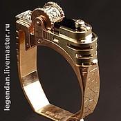 """Украшения ручной работы. Ярмарка Мастеров - ручная работа Золотое мужское кольцо """"Зажигалка"""". Handmade."""