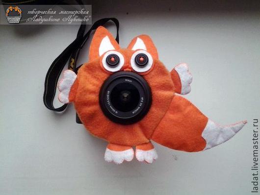 """Аксессуары для фотосессий ручной работы. Ярмарка Мастеров - ручная работа. Купить Игрушка на объектив фотоаппарата """"Рыжая Лиса"""". Handmade."""