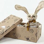 Куклы и игрушки ручной работы. Ярмарка Мастеров - ручная работа заяц-Умник. Handmade.
