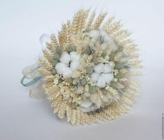 Букеты ручной работы. Ярмарка Мастеров - ручная работа. Купить Букет из сухоцветов с хлопком. Handmade. Комбинированный, хлопок, декор для интерьера