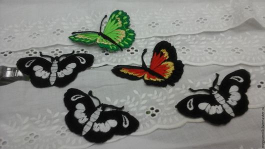 """Аппликации, вставки, отделка ручной работы. Ярмарка Мастеров - ручная работа. Купить Аппликация """" Бабочка"""". Handmade. Черный, бабочка"""