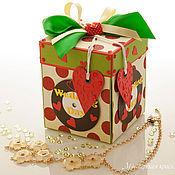 Упаковочная коробка ручной работы. Ярмарка Мастеров - ручная работа Коробочка-сюрприз для денежного подарка. Стиляги(ретро-свадьба). Handmade.
