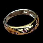 Украшения handmade. Livemaster - original item Silver ring with garnet rhodolite, size 17,5. Handmade.