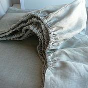 Для дома и интерьера handmade. Livemaster - original item Bed sheet elastic linen,double,Euro,. Handmade.