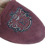 Обувь ручной работы. Ярмарка Мастеров - ручная работа Лоферы замшевые с вышивкой Brown. Handmade.