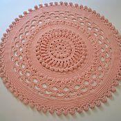 Для дома и интерьера handmade. Livemaster - original item Carpet embossed handmade round POM-POM. Handmade.