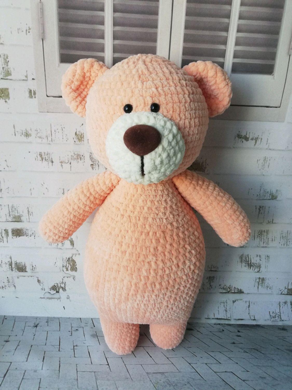 Медведь из плюшевой пряжи, Мягкие игрушки, Курск,  Фото №1
